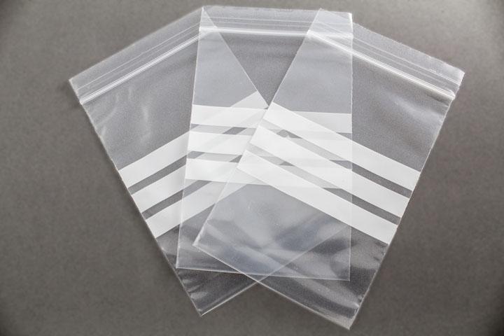 Bolsas con autocierre y bandas de escritura - Bolsas de plastico con cierre ...