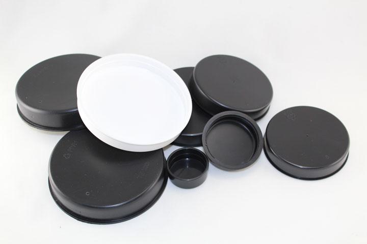 Tapas de pl stico para cerrar tubos blancos o negros for Tapas de plastico