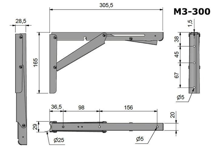 Escuadras verticales horizontales y bandejas abatibles de - Como hacer cubreradiadores ...